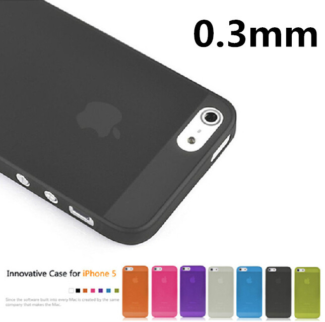 1 piece Case Cover Protector for Apple i Phone iphone 5 5s 0.3mm Ultra Thin Slim Matte camera hollow not show fingerprint retail(China (Mainland))
