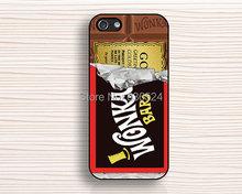 Чехол для iphone / 4S / 5 / 5S / 5c, горячая стиль открыл половина вонка шоколад черный бухта для iphone 4 4S 5 5S 5c 6 6 большой