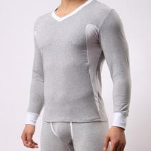 ST8002 Cotton Mens Brand Long Johns Thermal Underwear Sets Suits 2015 New Sexy Sports Sleepwear Suits for male Soutong(China (Mainland))