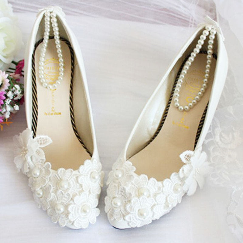 Online Get Cheap Flat White Wedding Shoes Aliexpress