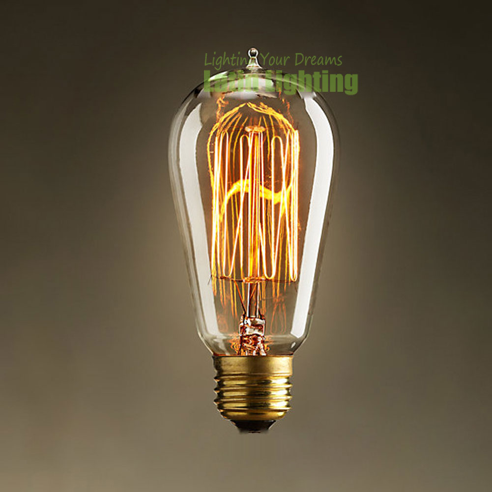 Hot 40w 220v E27 Filament Edison Bulbs Incandescent Lamp Decor Light Vintage Bulbs Tube Filament