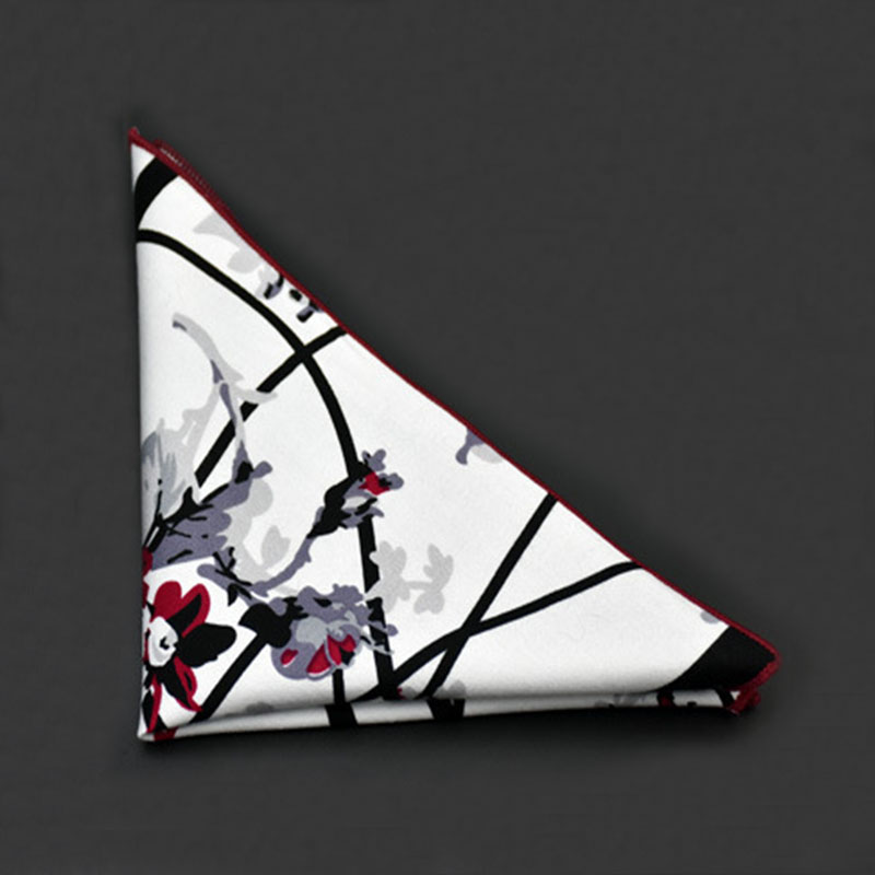 Vintage Floral Square Pockets Handkerchiefs Cotton Handkerchief Mens Accessories Casual Men's Pocket Square For Wedding Party(China (Mainland))