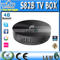 New Arrival ! S82 Quad Core Android TV Box 2GB 8GB Amlogic S802  Android 4.4 KitKat  Mali450 GPU 4K HDMI Bluetooth4.0 XBMC