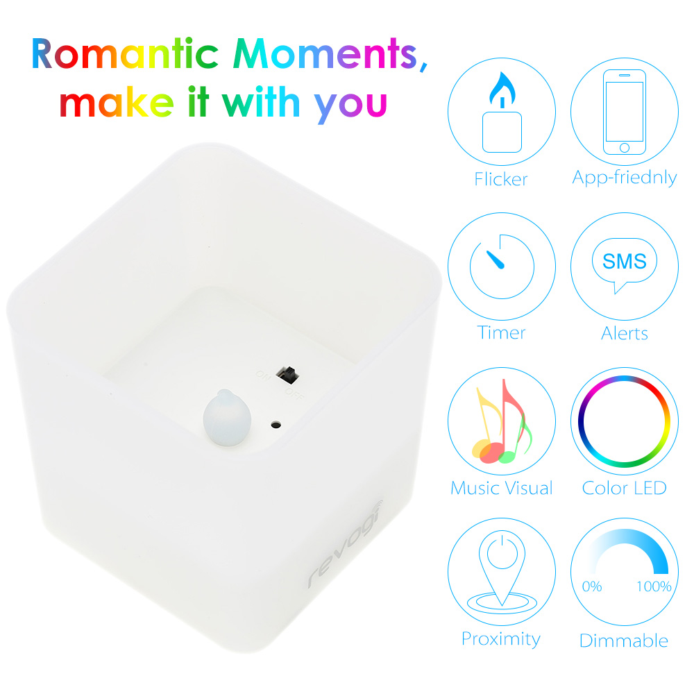 Revogi Smart Candle LED Light Bulb Color Dimmable Bluetooth Low Energy Wireless Lightbulb Android & iOS APP Control(China (Mainland))