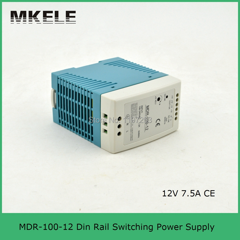 2015 Special Offer Real Low Price 100watt Smps 12v 100w Power Supply Mdr-100-12 Din Rail Switch Small Size with Ce Certification(China (Mainland))