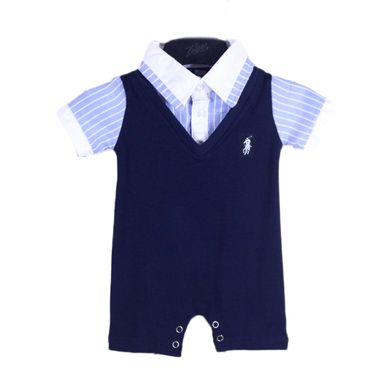 baby boy clothing 2016 summer plaids romper new born baby ...