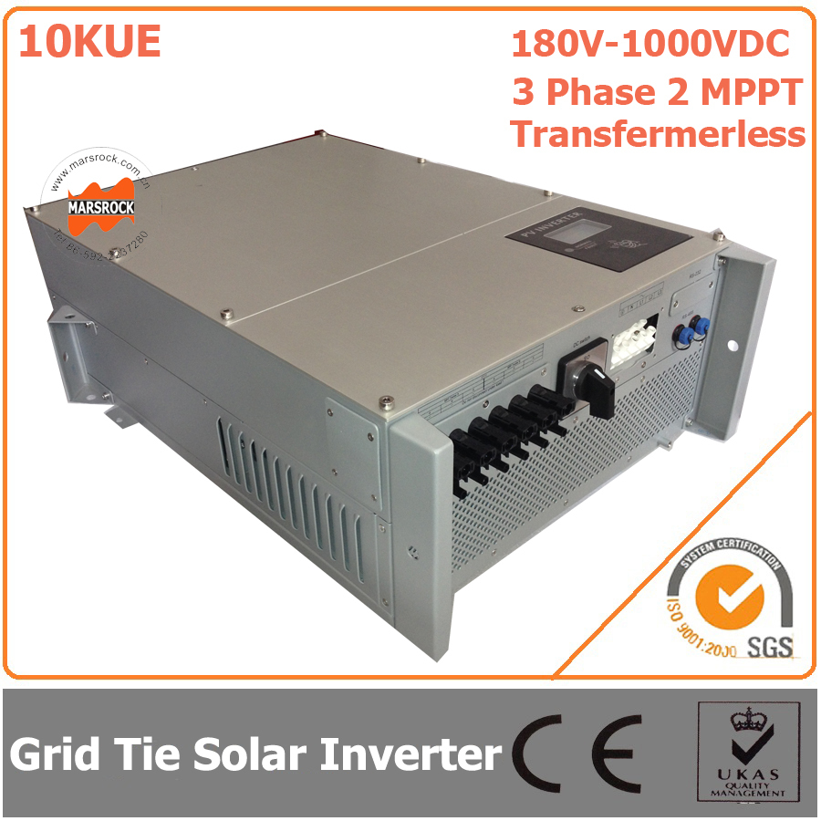 10000W/10KW 180V-1000VDC Three Phase 2 MPPT Transformerless Waterproof IP65 Grid Tie Solar Inverter with CE RoHs Approvals(China (Mainland))