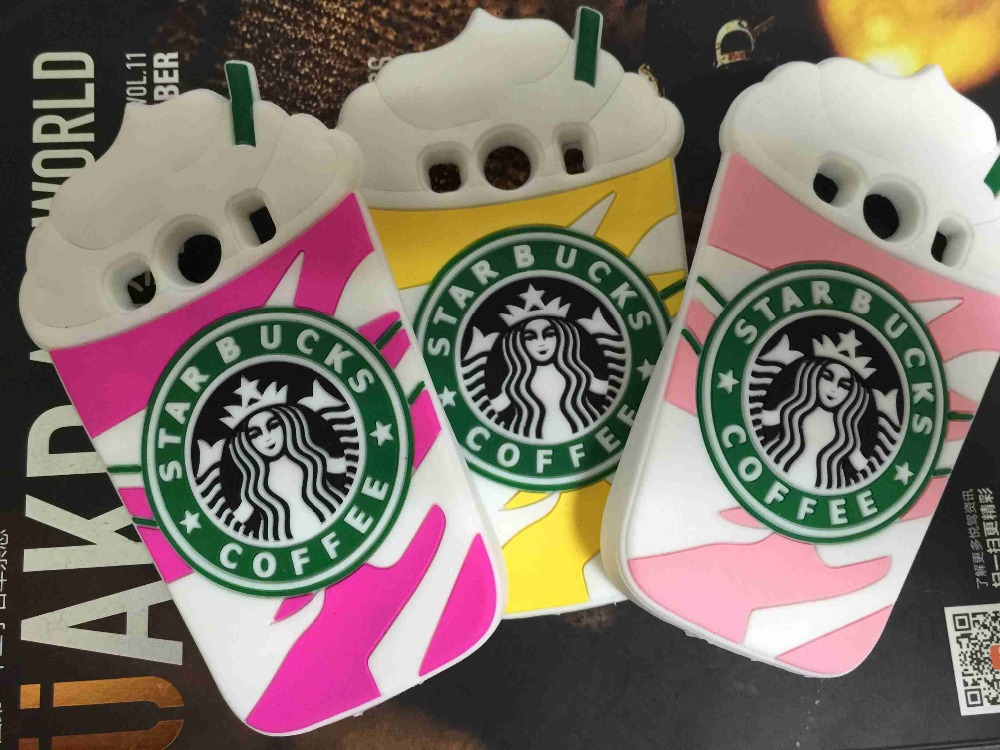 50pcs/lot DHL New 3D Cartoon Starbuck Coffee Cup Silicone Soft Case Cover For Samsung Galaxy Ace 4 Style LTE G357FZ Ace 4 G357