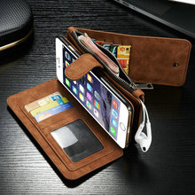 """For Apple iPhone 6 6S Plus 5.5"""" Top Quality Genuine Leather Multi-Function Wallet Cover Case Insert Card Mobile Phone Bag"""