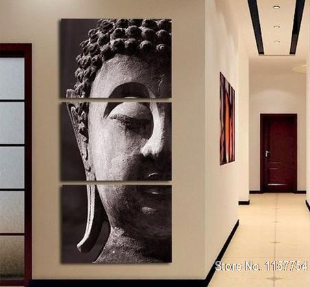 3 Panel Wall Art buddha wall art Modular pictures decoration pictures buddha oil painting canvas art living room decoration(China (Mainland))