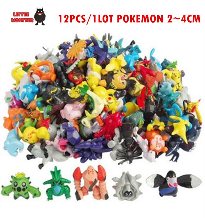 12PCS/Lot 2-3CM pokemon goToys Mix Style New Cute Cartoon Monster Mini Figures Toys Brinquedos Action Figure Pikachu Toys(China (Mainland))