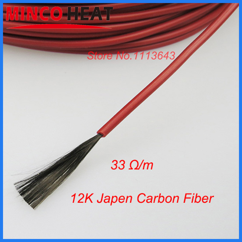 12K 33Ohm Poultry Farming Underfloor Heating System Carbon Fiber Heating Wire Hotline 50m Red Rubber Jacket<br><br>Aliexpress
