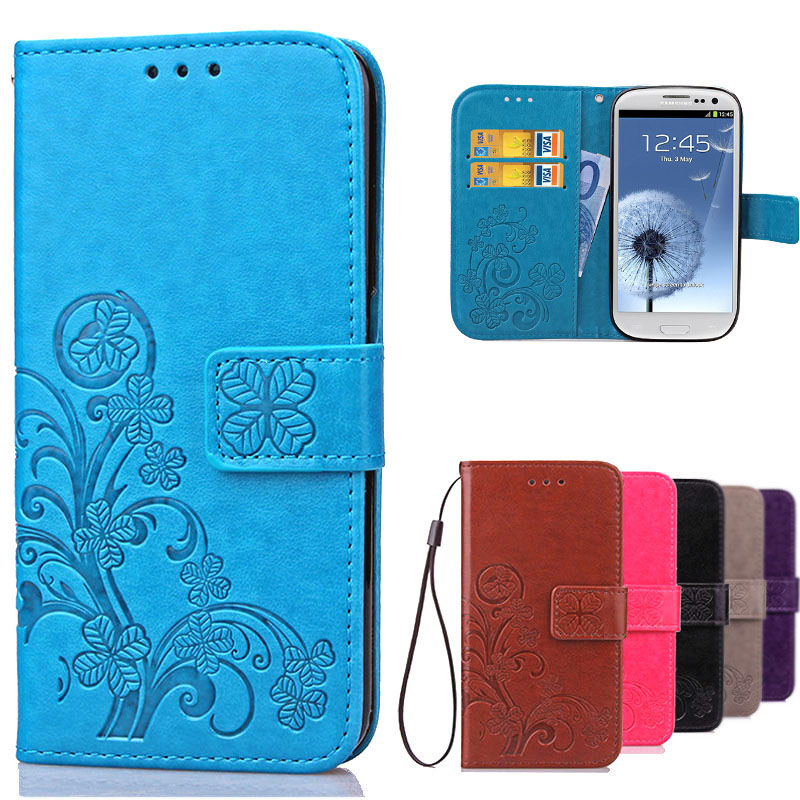 Luxury Case for Samsung Galaxy S3 Flip Wallet Leather Cover For Samsung S3 Case Galaxy I9300 Neo i9301 Duos i9300i Phone Case(China (Mainland))