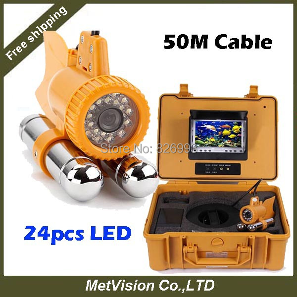 50M cable SONY CCD Underwater Fishing Camera 7 Inch LCD Monitor Video Color Fish Finder,NEW ARRVIAL!(China (Mainland))