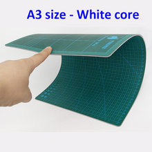 High Quality A3 Size white core Self-healing Cutting Mat, Taiwan knife board with grid, for Engraved paper or film cutting(China (Mainland))