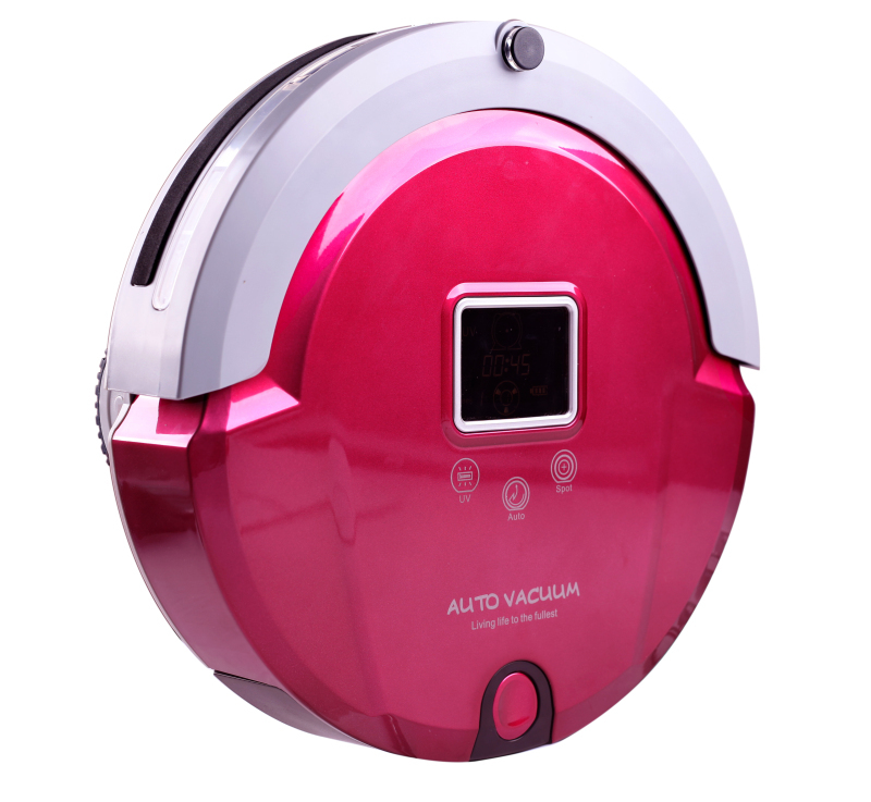 (Free to Russia )4 In 1 Multifunction Robot Vacuum Cleaner, LCD Screen,Touch Button, Work,Virtual Wall,Auto Charge,LIECTROUX(China (Mainland))