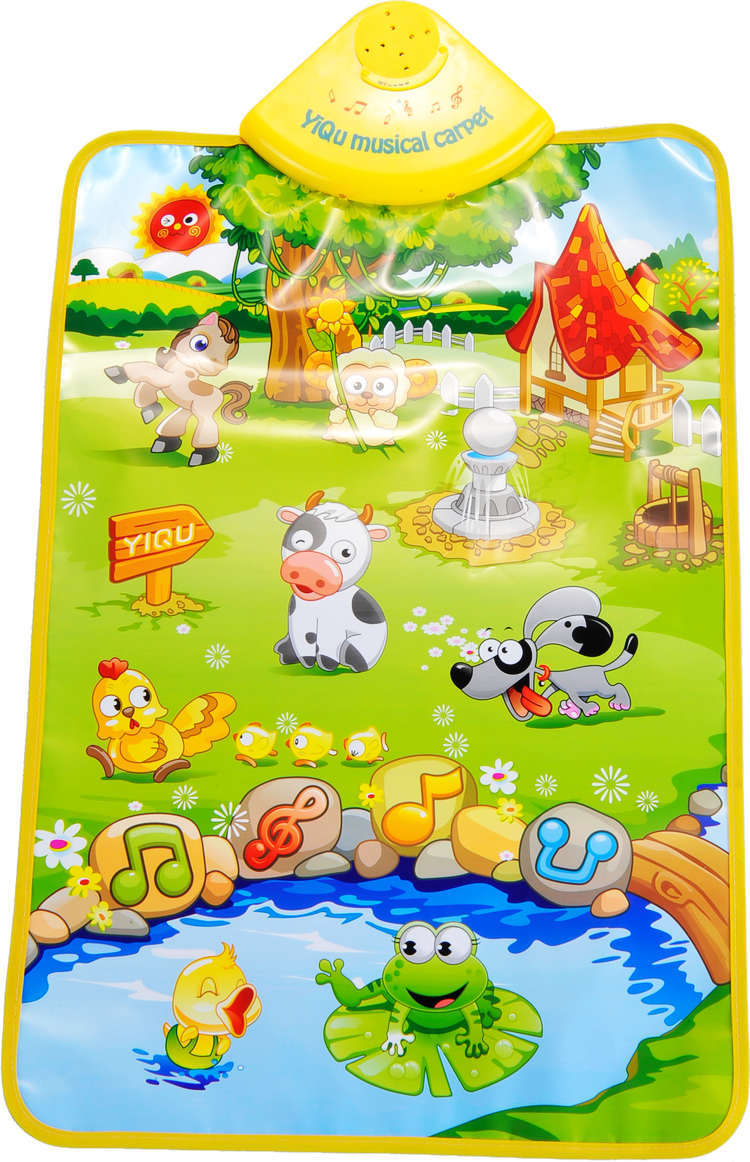 Educational Toys Early Learning Farm Animals Sound Cognitive Chart Music Game Carpet Computer(China (Mainland))