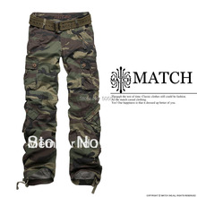 Hottest Matchic women's camouflage cargo pants hiking&camping 2036M(China (Mainland))