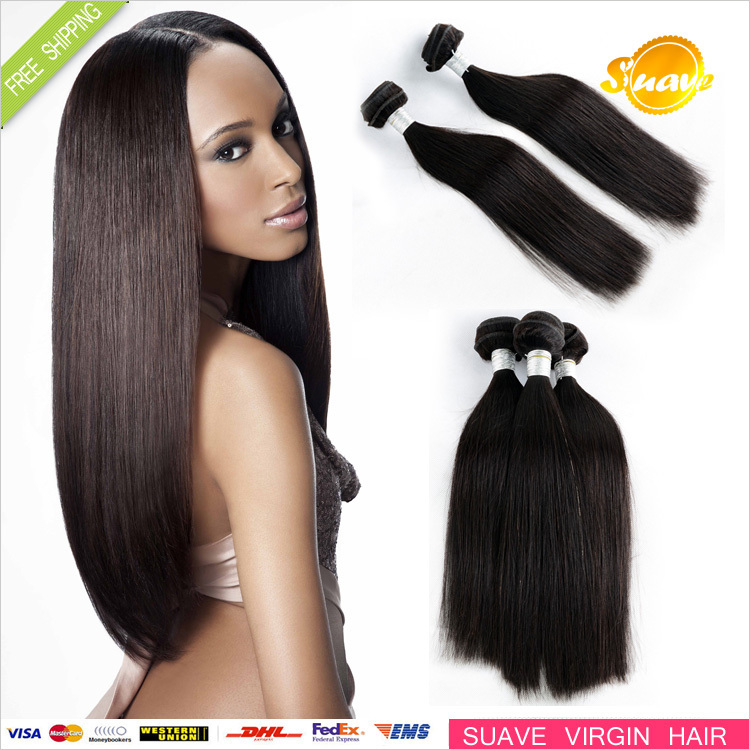 "6A Human Hair weave,Mix Lengths 12""-30"" unprocessed virgin Brazilian Straight hair Extension"