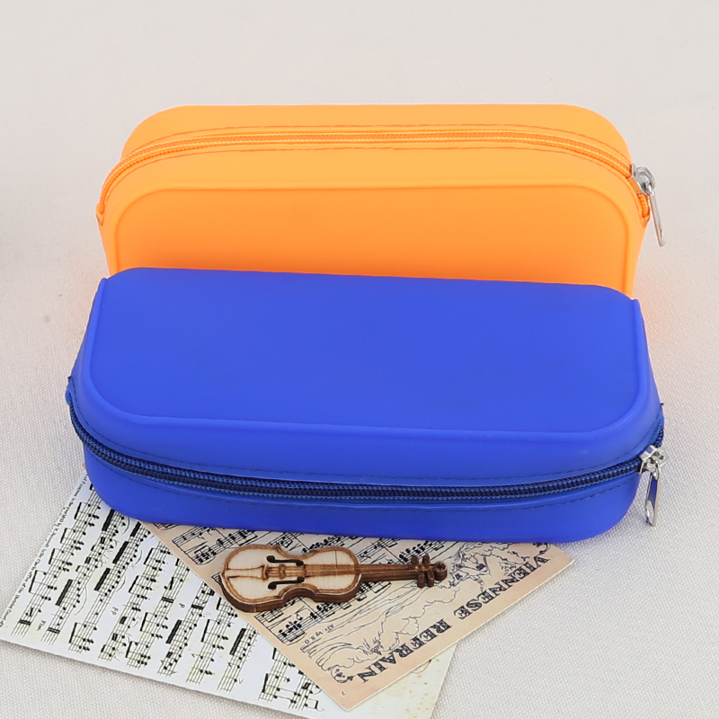 Multifunction Silicone Pencil Case Candy Color Pencil Box Pen Case School Supplies Cute Stationery Storage Bag(China (Mainland))