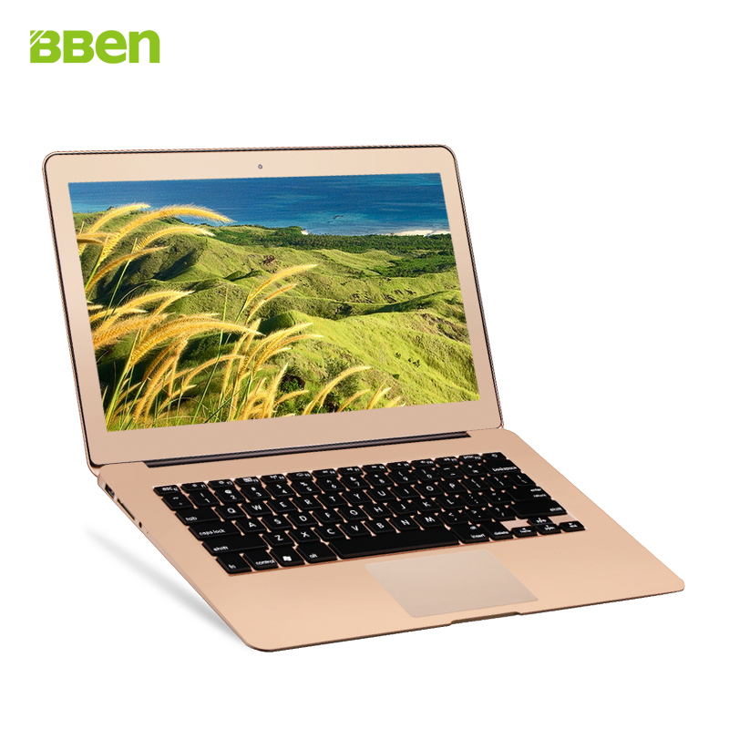 13 inch In-tel I7 dual Core processor cpu notebook laptop netbook computer windows 10 os 2gb DDR3 64gb ROM SSD gold sliver color