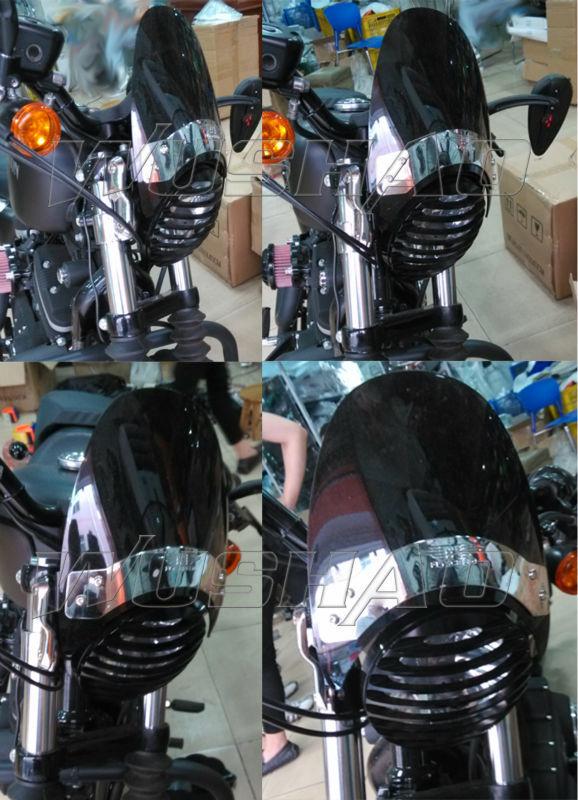 Clear Motorcycle Windscreen Windshields Fit For Honda Suzuki GZ250 1999-2010 US