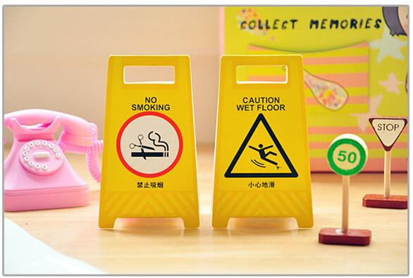 1PC/Lot Post it Yellow warning board Sticky notes Memo pad sticker kawaii Stationery Office material school supplies(China (Mainland))