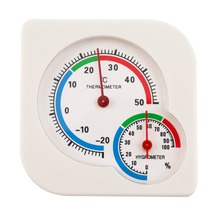 Classic WS-A7 Indoor Outdoor MIni Wet Hygrometer Humidity Thermometer Temperature Meter Mechanical Thermometer White(China (Mainland))