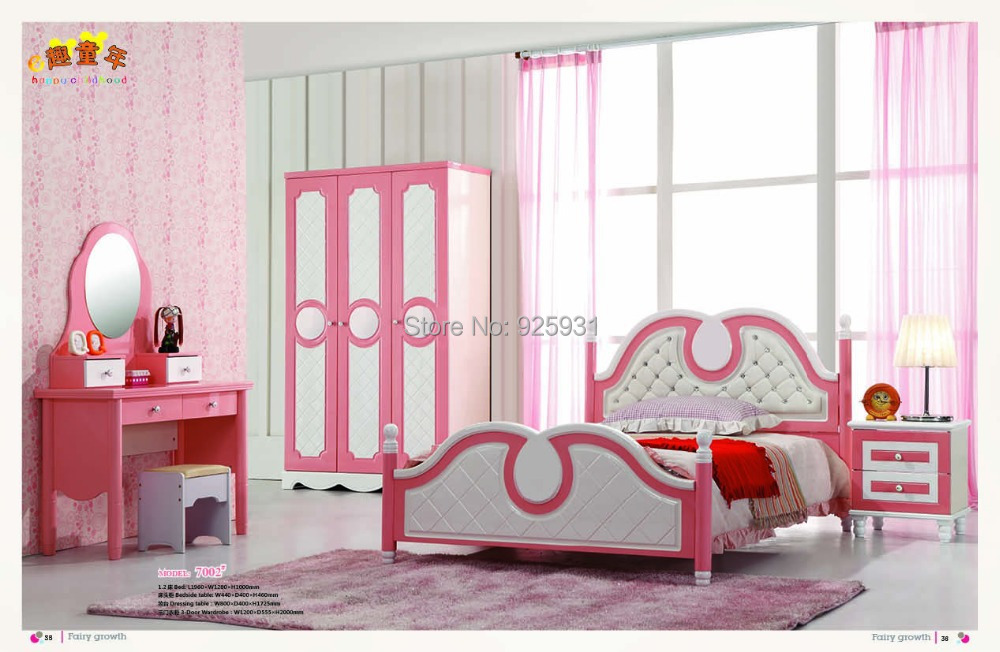 model 7002 Princess bedroom set Child Bed Room Furniture
