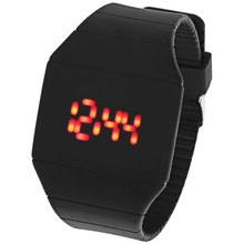 Red LED Touch Screen Digital Display Wrist Watch Rubber Wristwatch 9 colors