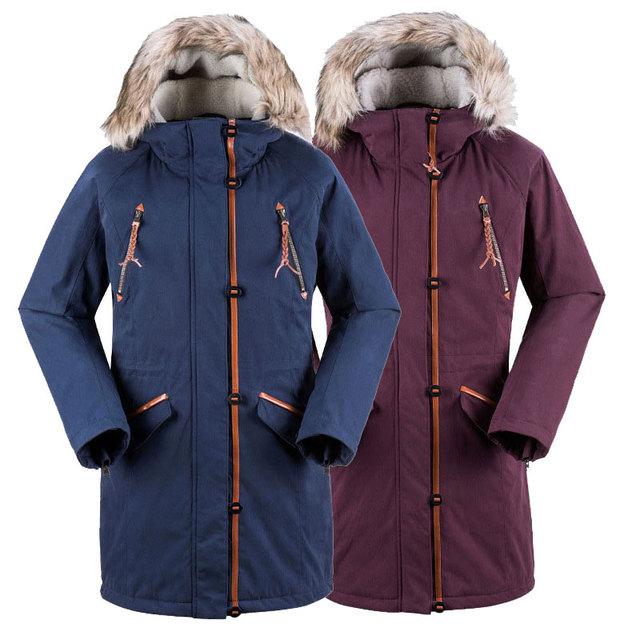 Женщины лыжах пальто женская длинный хлопок пальто куртка сноуборд костюмы зима парки водонепроницаемый толстая одежда