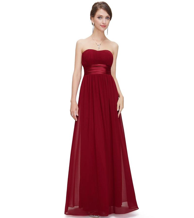 Cheap custom made sweetheart burgundy floor length chiffon for Chiffon sweetheart wedding dress