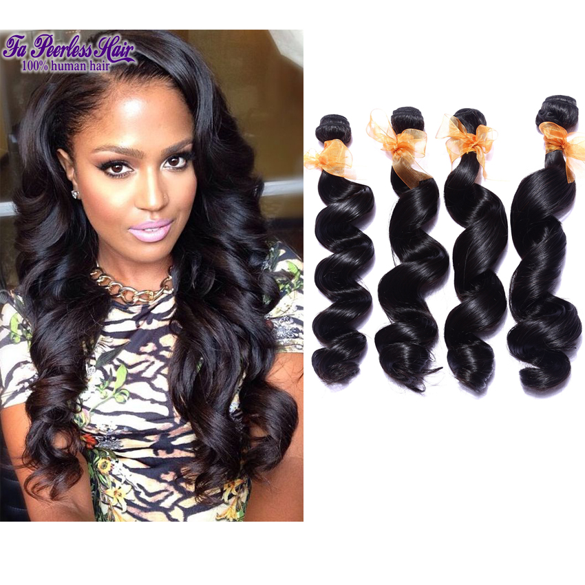 4b Hair Eurasian Loose Wave Tissage Cheveux Humain Lot De 4 7A Cheap Unprocessed Virgin Hair Peerless Hairpieces For Women <br><br>Aliexpress