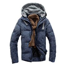 Men Warm Collar Hooded Parka Man Winter Thick Duck Down Coat Outwear Down Jacket M to XXL S3