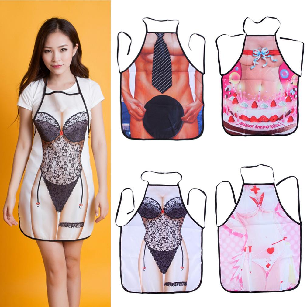 Sexy Cooking Aprons Funny Novelty BBQ Party Apron Naked Men Women Lovely Rude Cheeky Kitchen Cooking Apron Multicolor(China (Mainland))