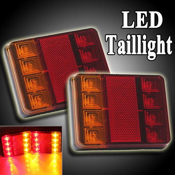 AUDEW ONE PAIR 12V LED CARAVAN VAN TRUCK TRAILER STOP REAR TAIL BRAKE LIGHT INDICATOR LAMP<br><br>Aliexpress