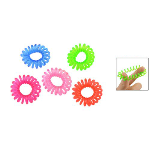 hot sale! 5 Pcs Red Pink Blue Multicolor Elastic Circle Hair Tie Ponytail(China (Mainland))
