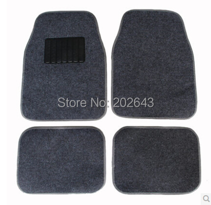 FM001 Car floor mats Carpets with pvc waterproof anti-slip mat black /grey 66*45cm pad pedals sticky pad for silica gel(China (Mainland))