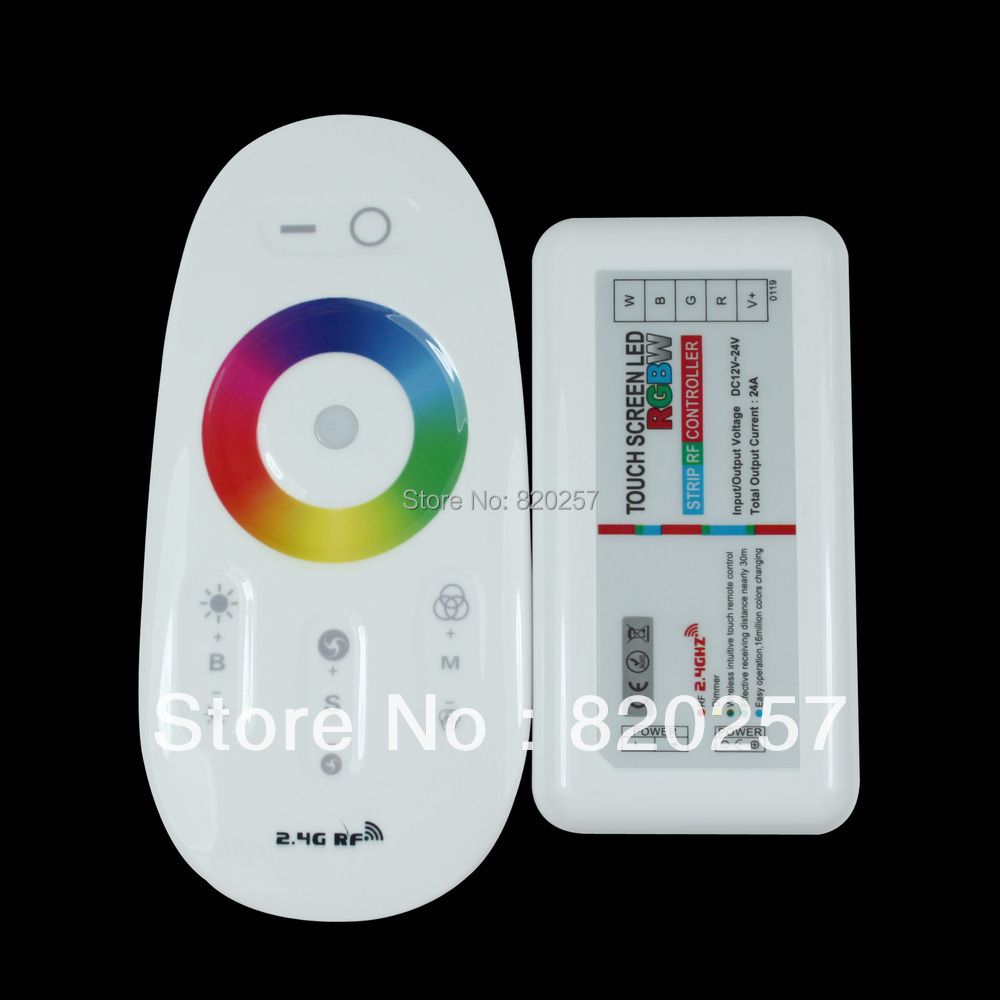 free shipping RF wireless touching RGBW 4 channel controller for RGBW led strip 12V/24V Smartphone or Tablet WiFi Compatible(China (Mainland))