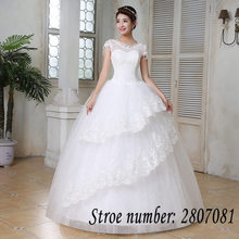 Buy Free Vestidos De Novia Real Photo Transparent Tulle Crystal O-neck Wedding Dresses New Short Sleeves Bride Gowns HS149 for $34.20 in AliExpress store