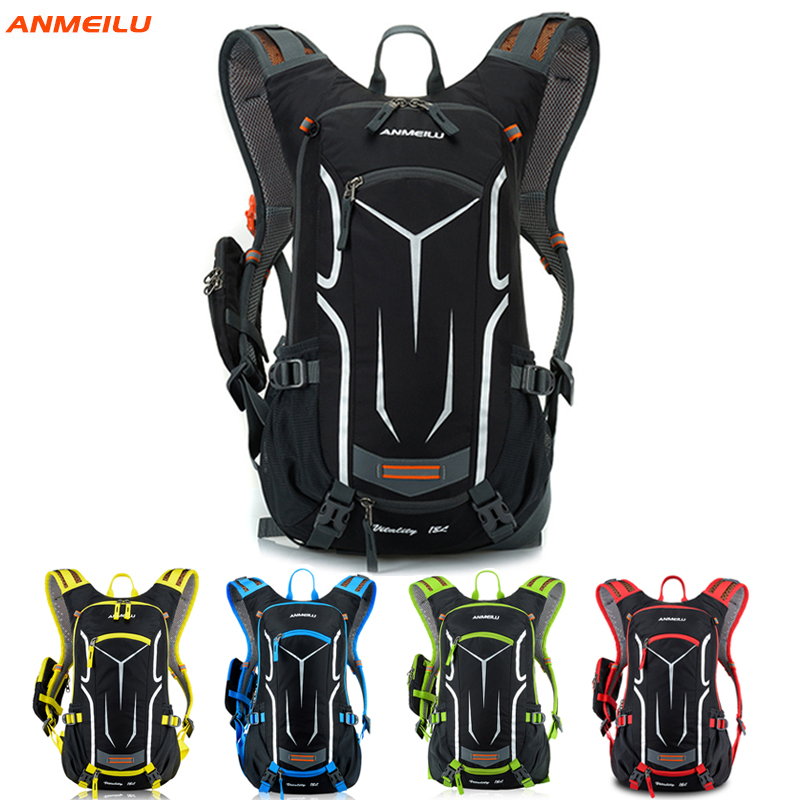 ANMEILU 18L Waterproof Outdoor Rucksack+Water Drinking Bag&Rain Cover Climbing/Hiking/Cycling Backpack Ultralight&Breathable