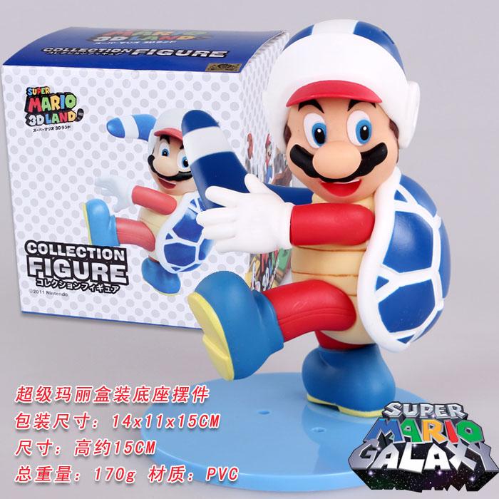 15cm Super Mario Bros Luigi Mario Turtle Art Action Figure PVC Model Doll PVC Anime Brinquedos Collection Model Toy For Kids #E(China (Mainland))