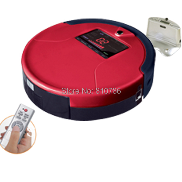 (EMS Free to Russian)Big LCD Screen/Big Rubblishi Box 1L/ Li-ion Battery Automatic Vacuum Cleaner Robot M-788A(China (Mainland))