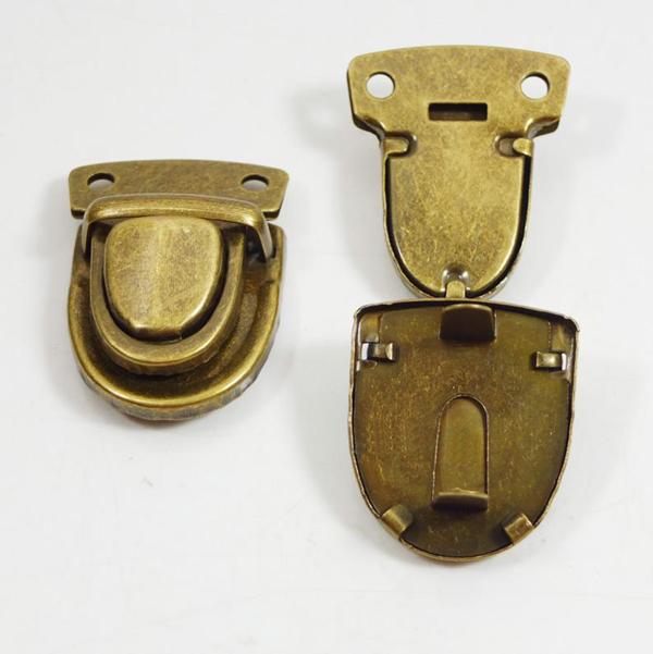 H065 20pcs bronze bag parts accessories closure catch tuck lock for leather bag case clasp purse + double round cap rivet stud(China (Mainland))