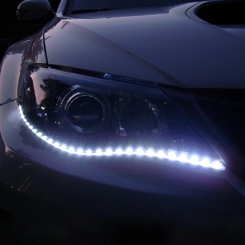 Free Shipping 2pcs/lot 30cm 15 SMD White Waterproof Lights High Power Car Auto Decor Flexible LED Strips#EC062(China (Mainland))