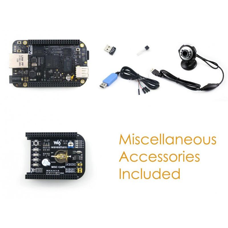 BB BeagleBone Black ARM Cortex A8 Rev C Development Board 4GB eMMC + MISC Cape + USB WIFI + Camera = BeagleBone Black Package E(China (Mainland))