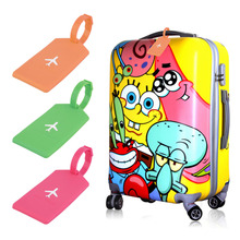 Travel Luggage Suitcase Baggage Suqare Tags Paper Name Address ID Labels Silicone 2016 Hot Sale(China (Mainland))