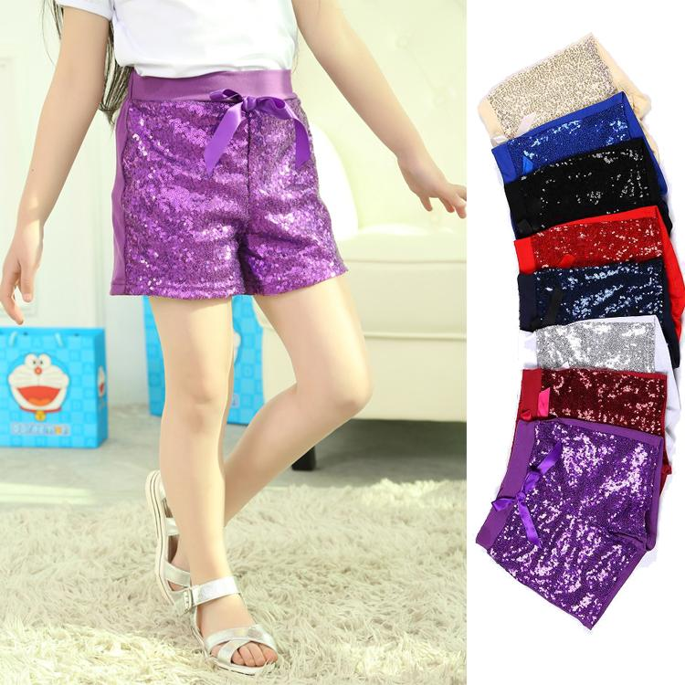 Фото Шорты для девочек Children Sequins Shorts fille Sequins summer shorts sequins