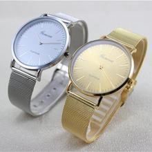 Newly Design Women's Fashion Dress Watch Stainless Steel Band Analog Quartz Wrist Watch Best Gift 160224