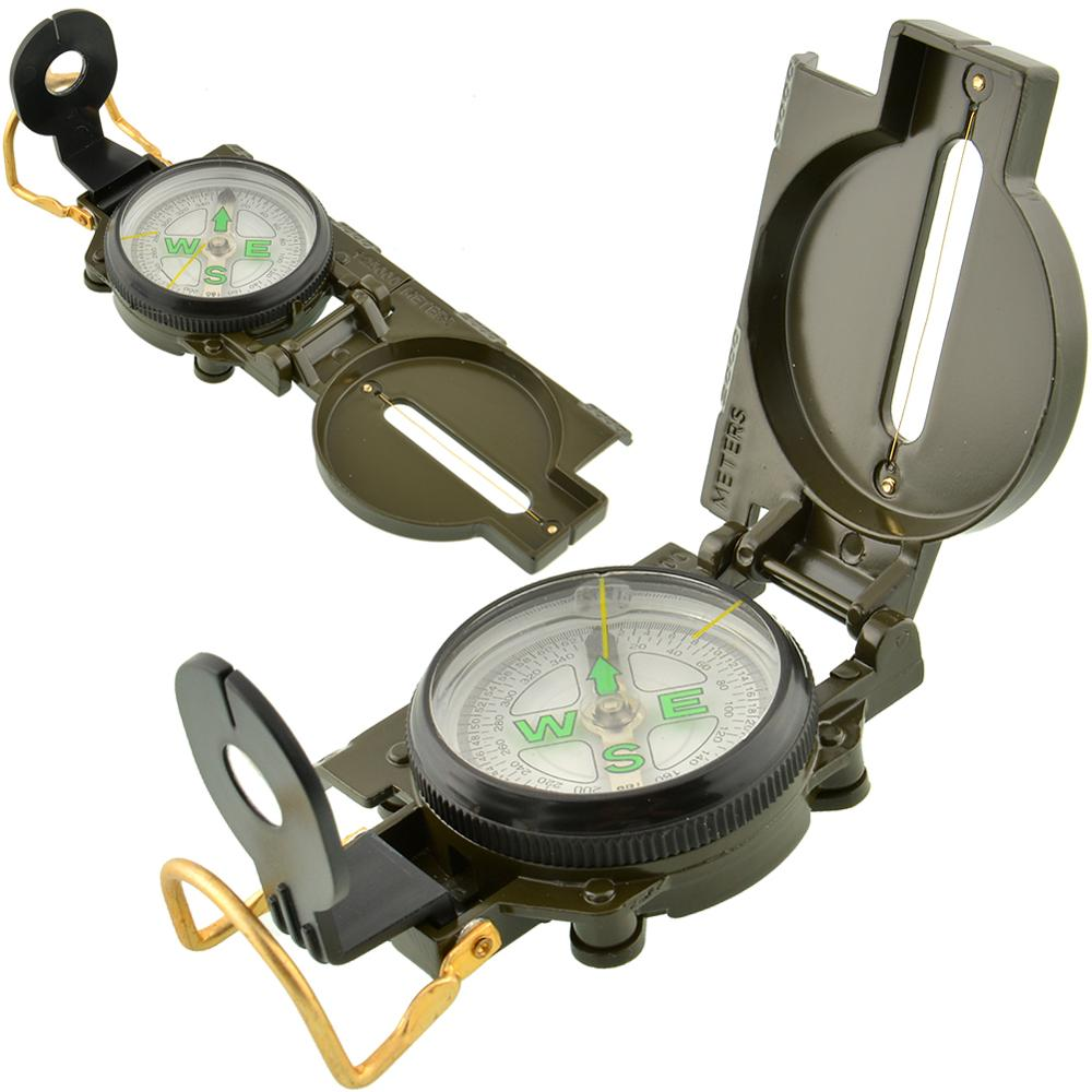 1PCS Portable Folding Army Green Compass American Military Survival Sighting 360 Lensatic 3 in 1 Pointer Guide Multifunction(China (Mainland))